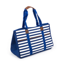 Navy Stripe Towel Tote