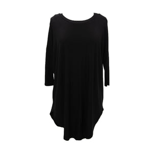 Front view of our Black Slouch Tunic