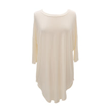 Front view of our Cream Slouch Tunic