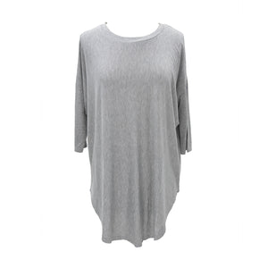 Front view of our Gray Slouch Tunic