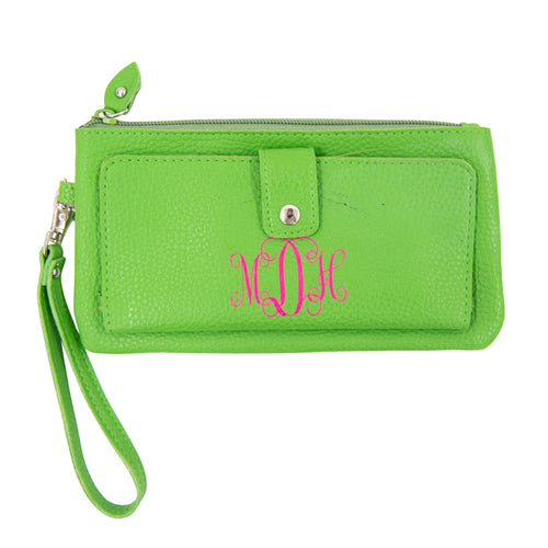 Monogrammed Vegan Leather Wallet