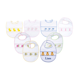 Our Smocked Baby Bibs