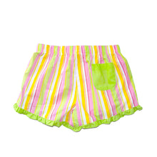 Back view of our Lime Stripe Lounge Shorts
