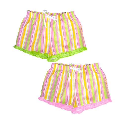 Front view of our Stripe Lounge Shorts
