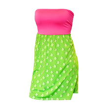 Front view of our Lime Dots Swimsuit Cover