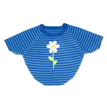 Load image into Gallery viewer, Front view of our Navy Flower Toddler Poncho