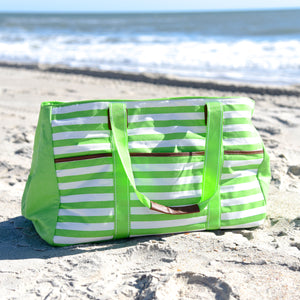 Lifestyle image of our Lime Towel Tote
