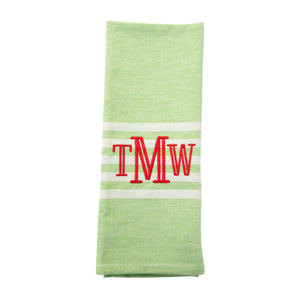 Monogrammed view Holiday Twill Dish Towel