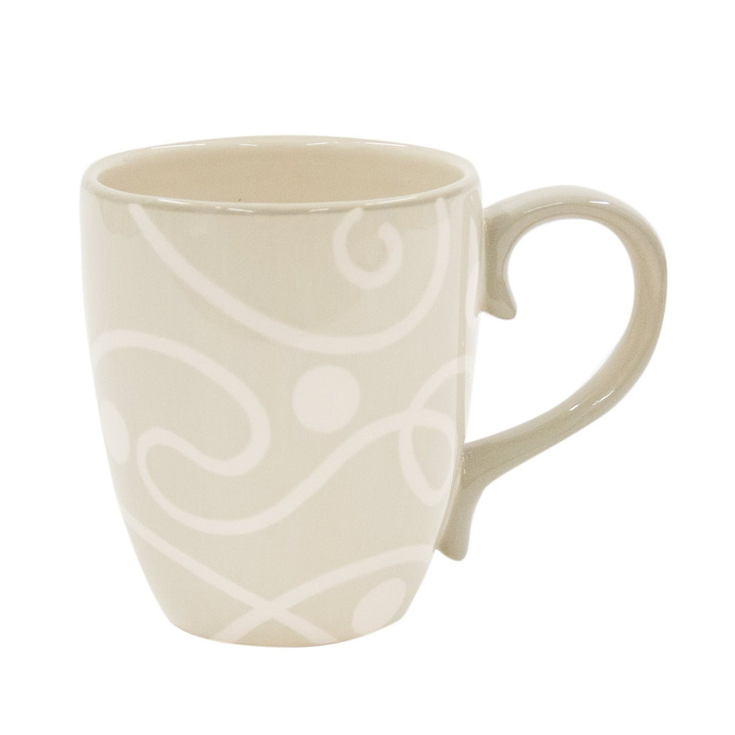 Taupe Coffee Mugs Set of 4 CS