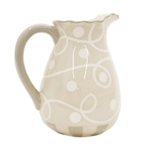 Taupe Ruffle Pitcher