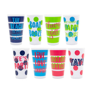 Front view of all of our Versed Tumblers