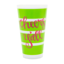 "Load image into Gallery viewer, Front view of ""Cheers Y'all"" Versed Tumbler"