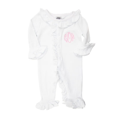 Homecoming Ruffle Onesie 0-6 Months