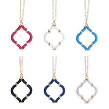 Load image into Gallery viewer, Collection of Wrapped Quatrefoil Necklace