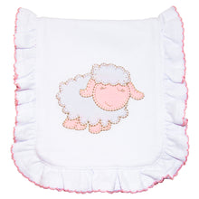 Load image into Gallery viewer, Lamb Ruffle Burp Cloth