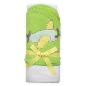 Wrapped hooded towel tied with a bow