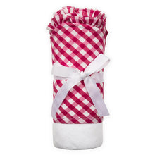 Wrapped Pink Gingham Hooded Towel