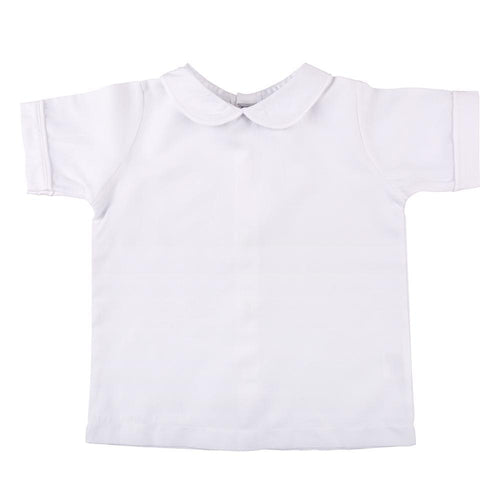 White Piping Short Sleeve Shirt