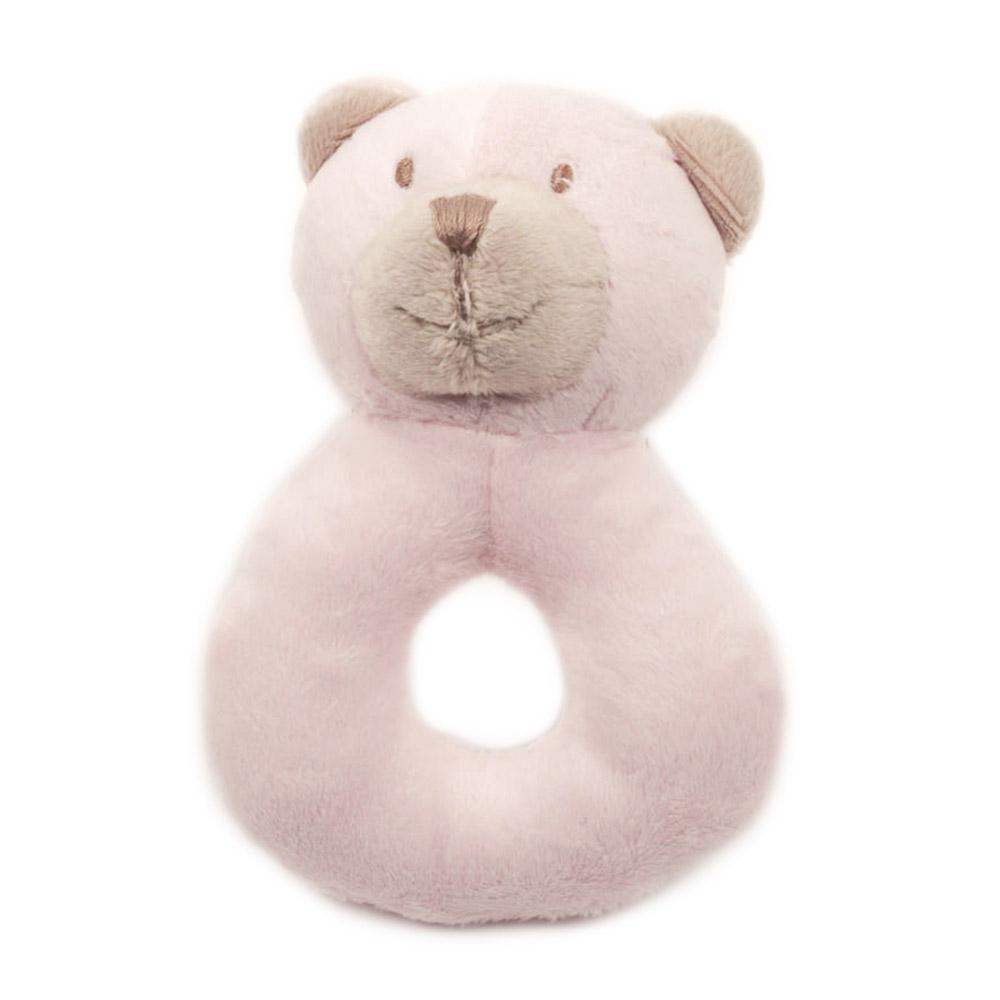 Pink Bear Plush Rattle