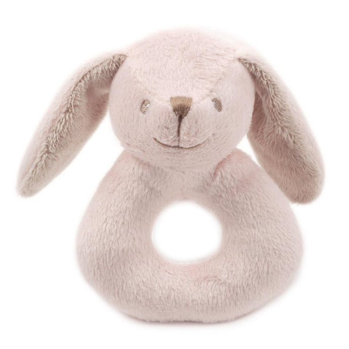 Pink Bunny Plush Rattle
