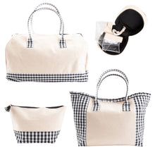 Load image into Gallery viewer, Monogrammed 4 piece Gingham Travel Set