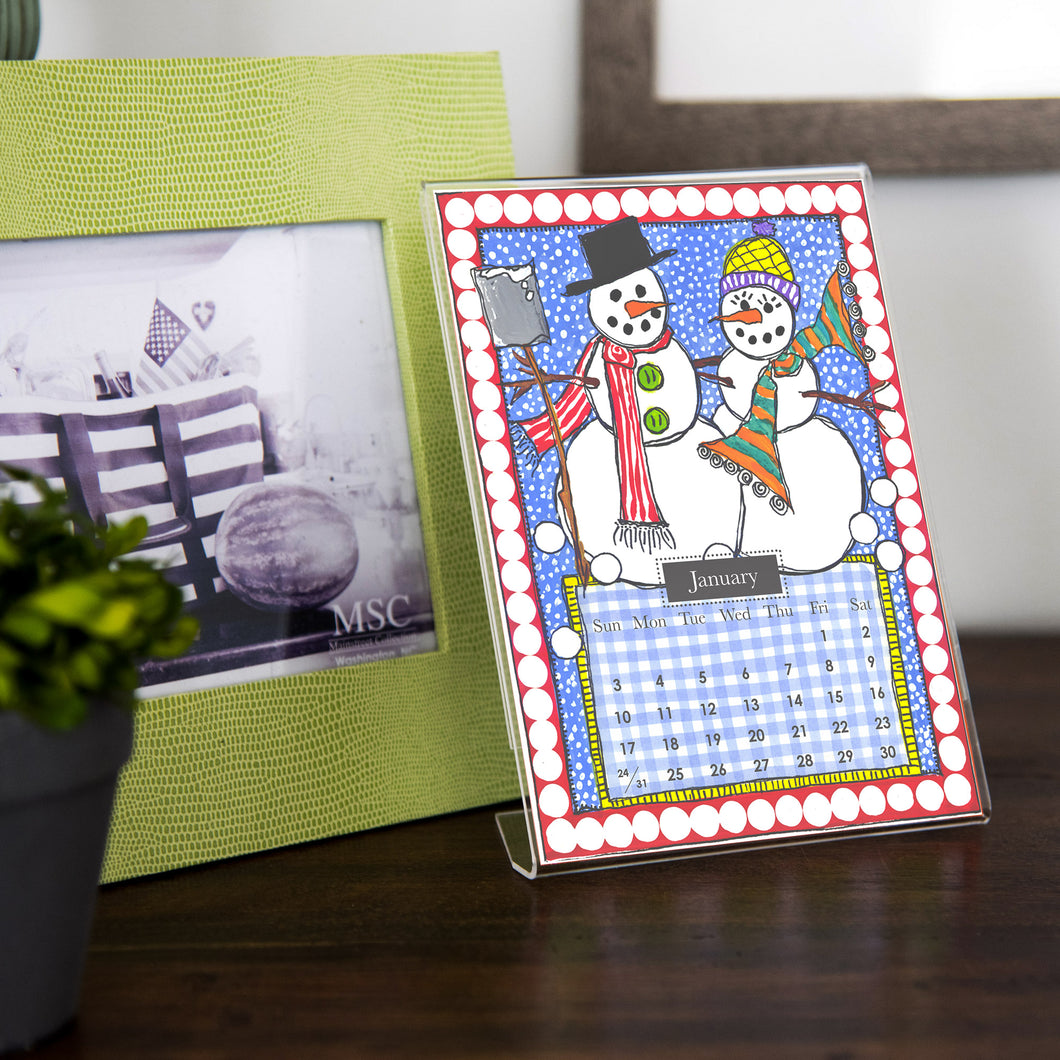 2021 Desk Calendar with Frame