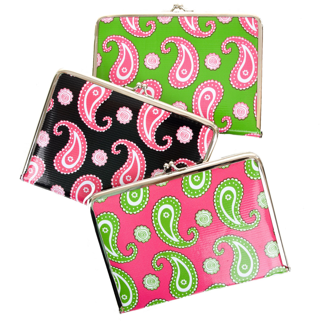 Paisley Photo Clutch