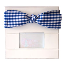 Load image into Gallery viewer, Blue Gingham bow frame with landscape photo window