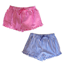 Load image into Gallery viewer, Gingham Lounge Shorts