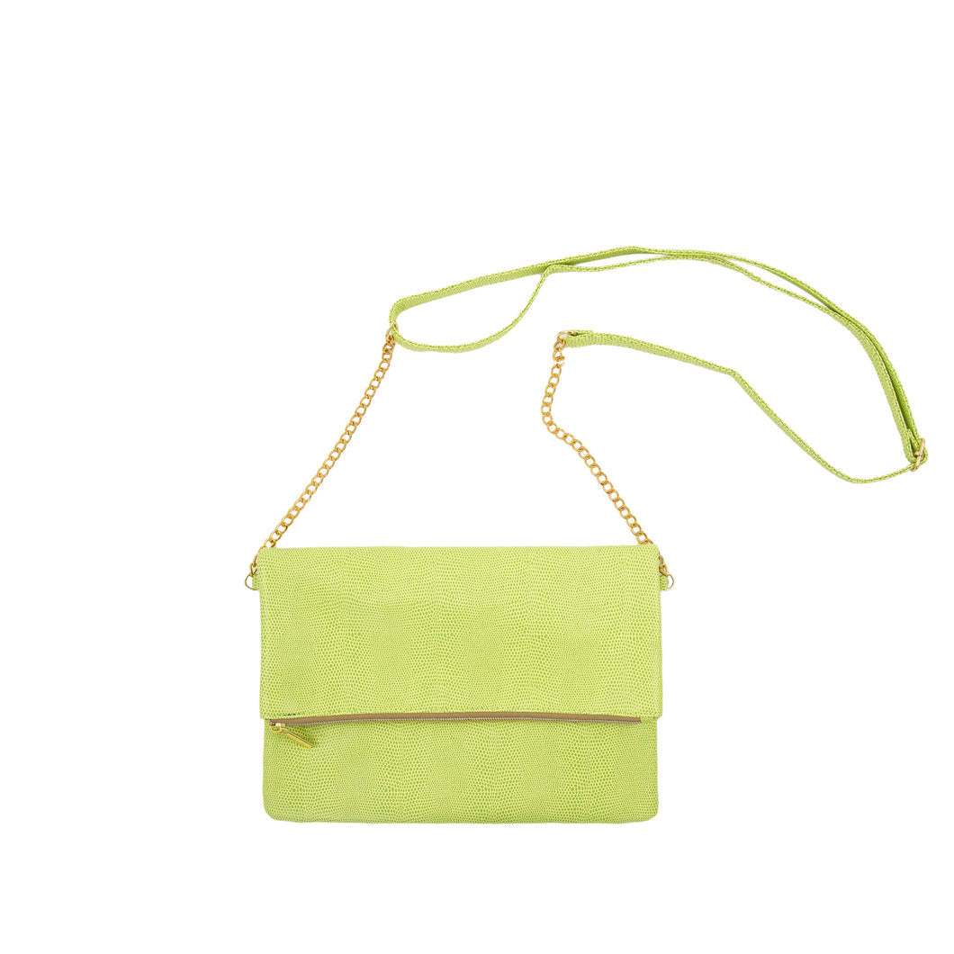 Front view of our Green Lizard Midtown Crossbody