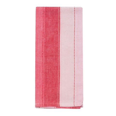 Red Holiday Ombre Stripe Dish Towel