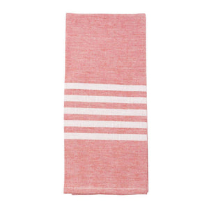 Red Holiday Twill Stripe Dish Towel