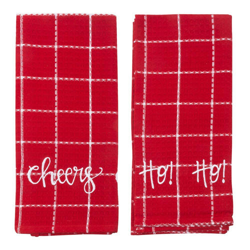 Holiday Versed Waffle Weave Dish Towel