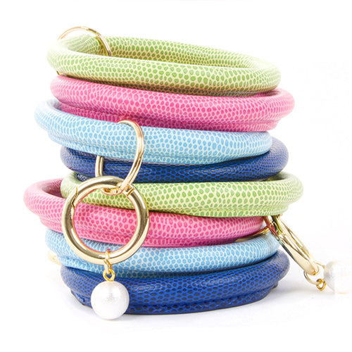 Lizard Keyrings with Pearl Accent