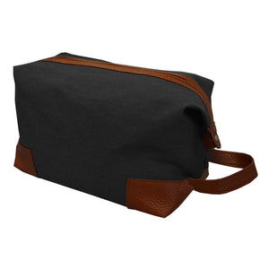Black canvas dopp kit