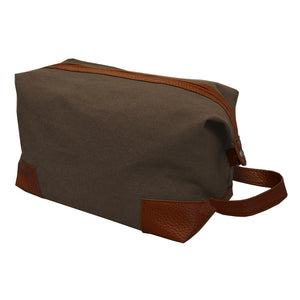 Mocha canvas dopp kit