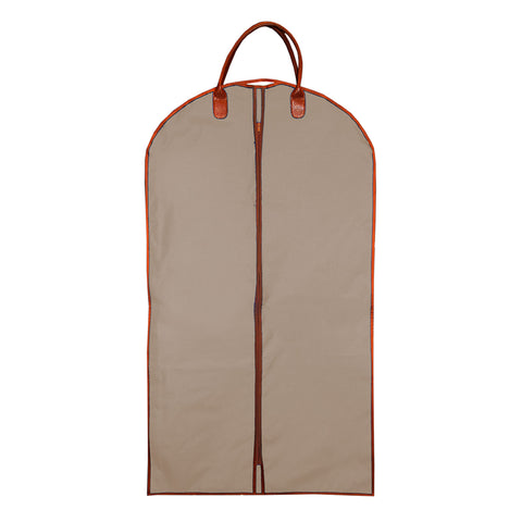 Tan suit bag