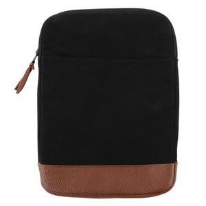 Black canvas tablet case