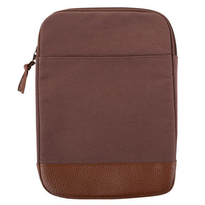 Mocha canvas tablet case