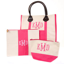 Monogrammed Canvas Tote Set