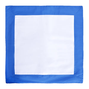 Cobalt / White Throw Pillow