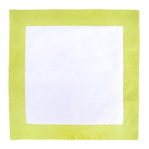 Lime / White Throw Pillow