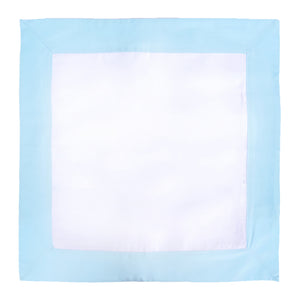 Light Blue / White Throw Pillow