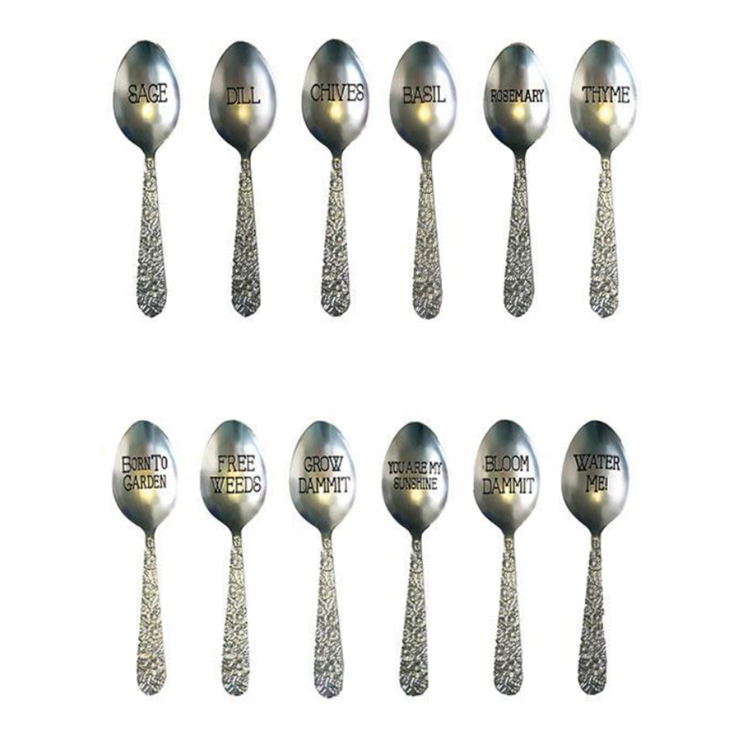 Set of 6 Spoon Plant Markers