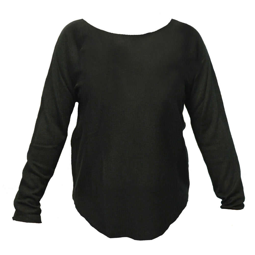 Black roll up sweater