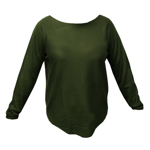 Olive roll up sweater