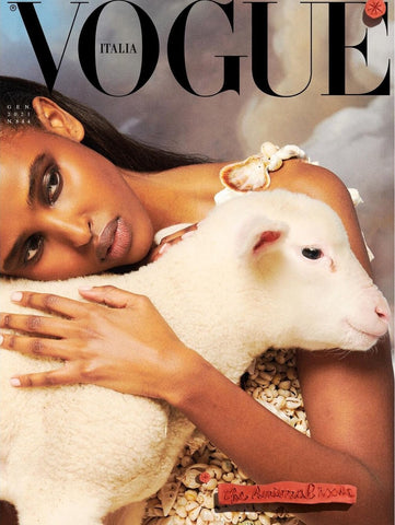 Vogue Italia cover January 2021 Animal edition