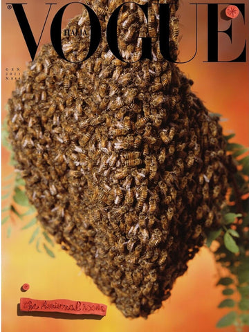 Vogue Italia bee cover 2021 January animal edition