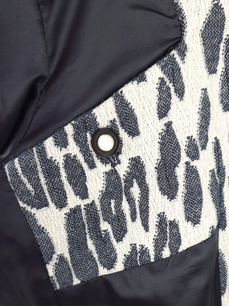 Bożena Jankowska Ltd Jacket 12 Blue Leopard Single Breasted Blazer