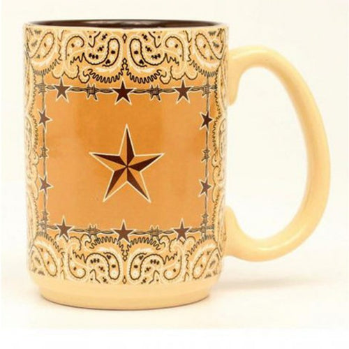 STAR BARBED WIRE COFFEE MUG